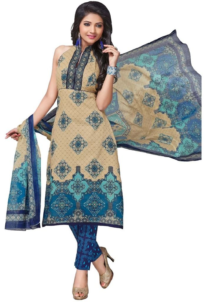 Buy Padmini Unstitched Printed Cotton Dress Material (product Code - Dtkashree4758) online