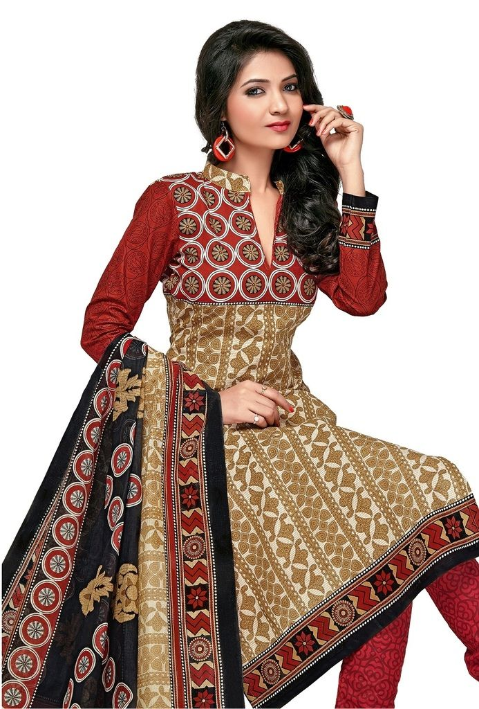 Buy Padmini Unstitched Printed Cotton Dress Material (product Code - Dtkashree4763) online