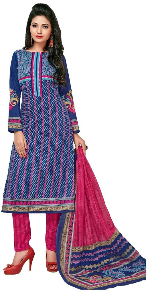 Buy Padmini Unstitched Printed Cotton Dress Material (product Code - Dtkashree4765) online
