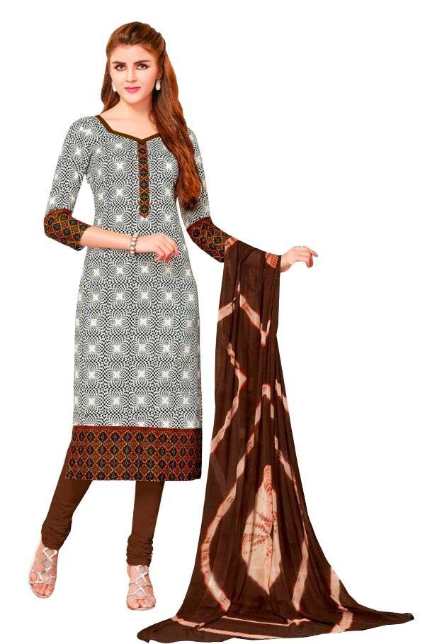 Buy Padmini Unstitched Printed Cotton Dress Material (product Code - Dtsjsuhana5004) online