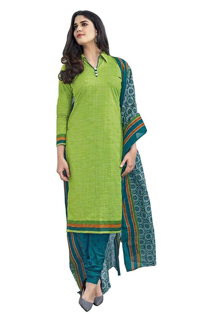Buy Padmini Unstitched Printed Cotton Dress Material (product Code - Dtmcm5005) online