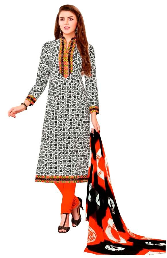 Buy Padmini Unstitched Printed Cotton Dress Material (product Code - Dtsjsuhana5007) online