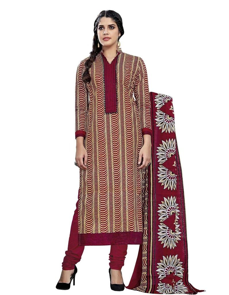 Buy Padmini Unstitched Printed Cotton Dress Material (product Code - Dtmcm5009) online