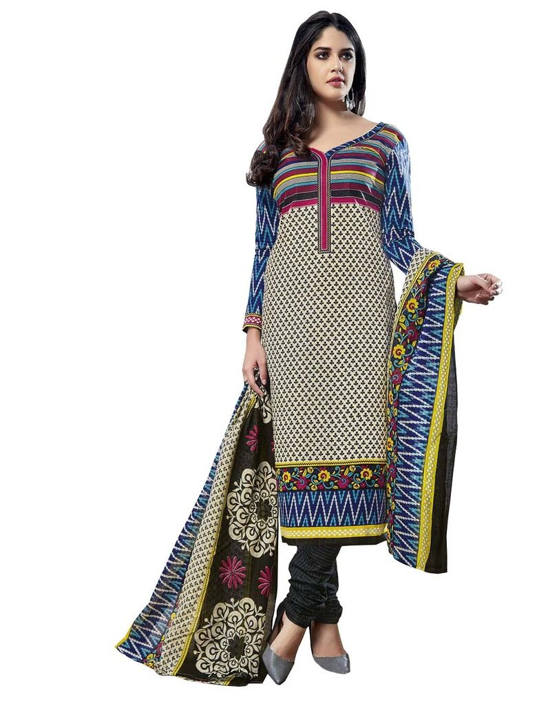 Buy Padmini Unstitched Printed Cotton Dress Material (product Code - Dtmcm5012) online