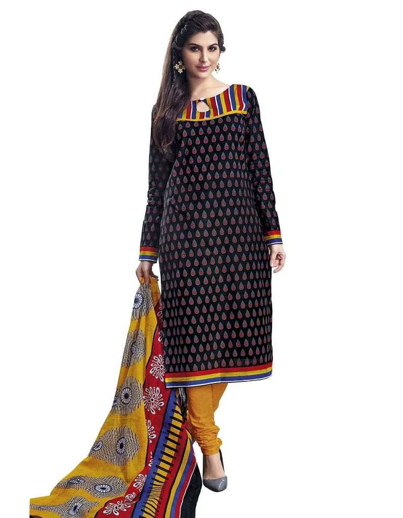 Buy Padmini Unstitched Printed Cotton Dress Material (product Code - Dtmcm5017) online