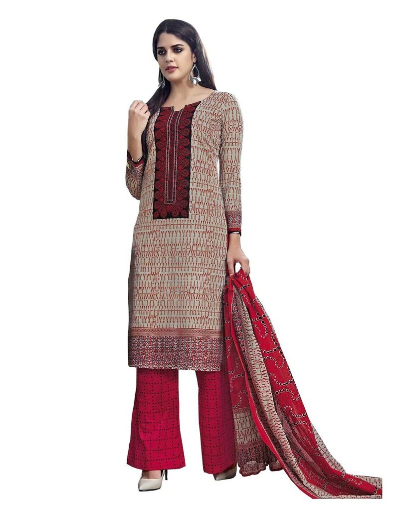 Buy Padmini Unstitched Printed Cotton Dress Material (product Code - Dtmcm5018) online