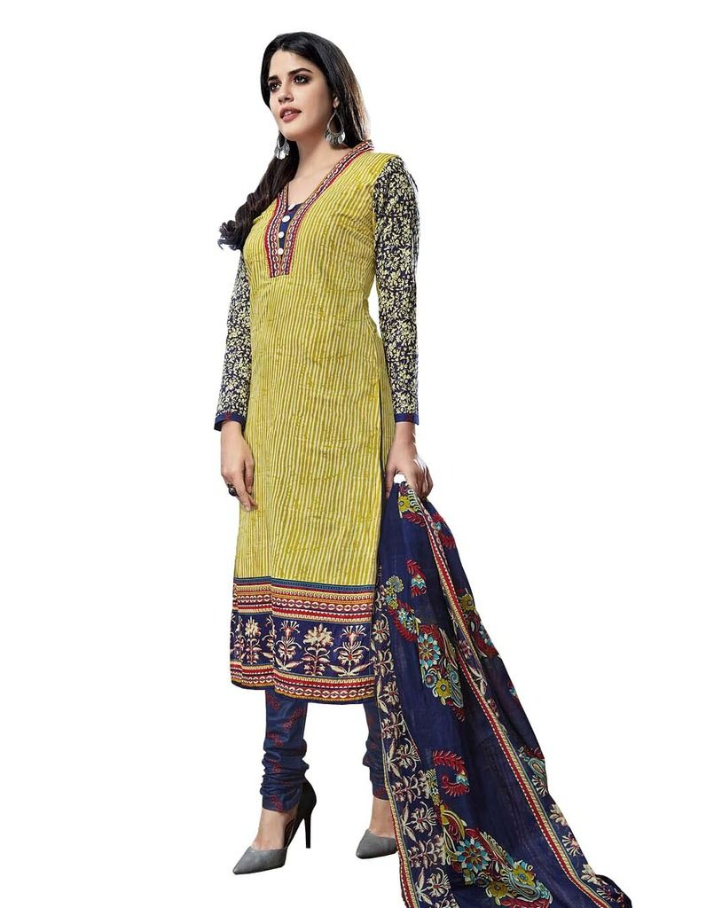 Buy Padmini Unstitched Printed Cotton Dress Material (product Code - Dtmcm5022) online