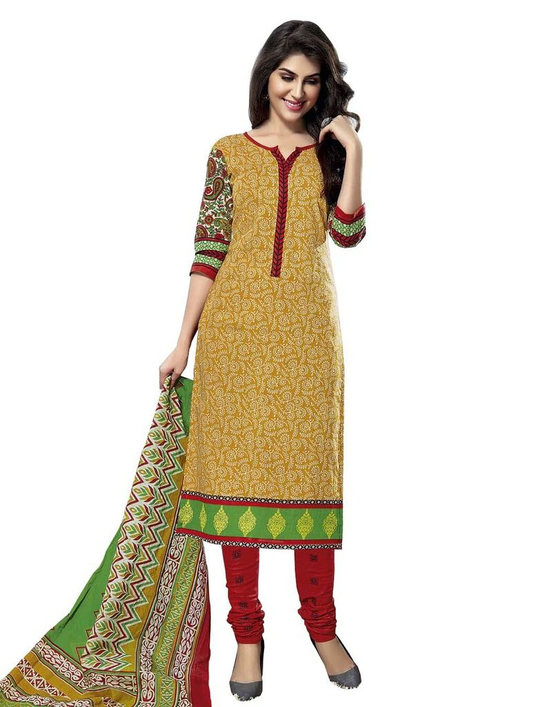 Buy Padmini Unstitched Printed Cotton Dress Material (product Code - Dtmcm5024) online