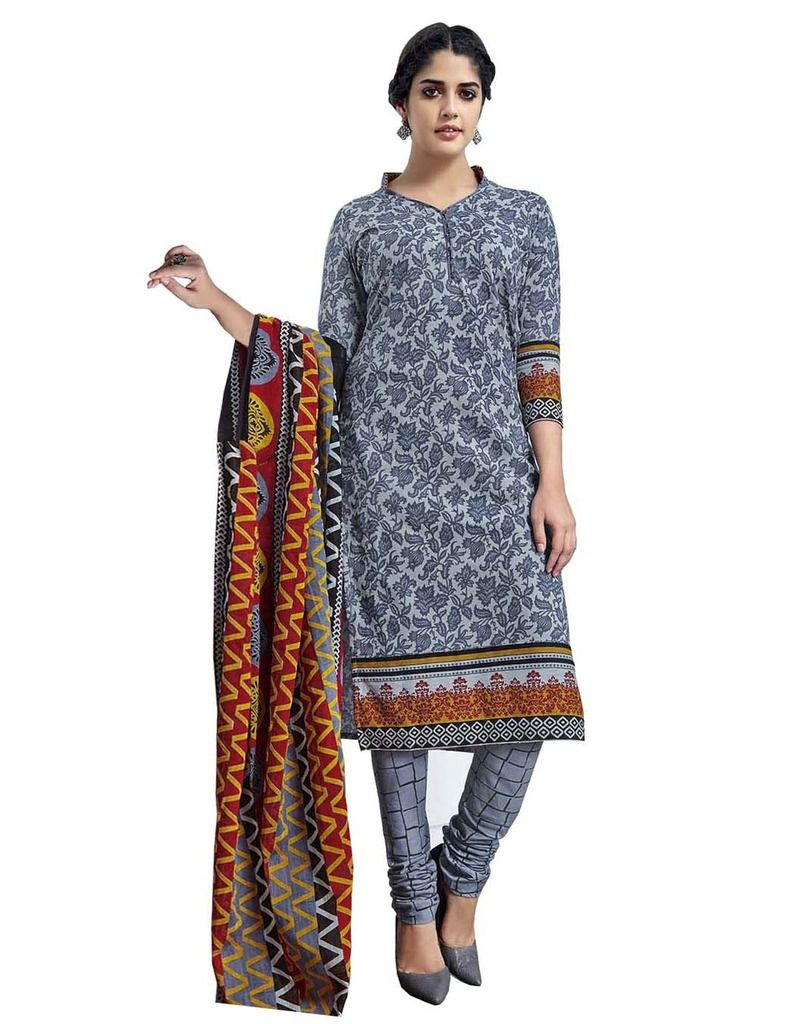 Buy Padmini Unstitched Printed Cotton Dress Material (product Code - Dtmcm5025) online