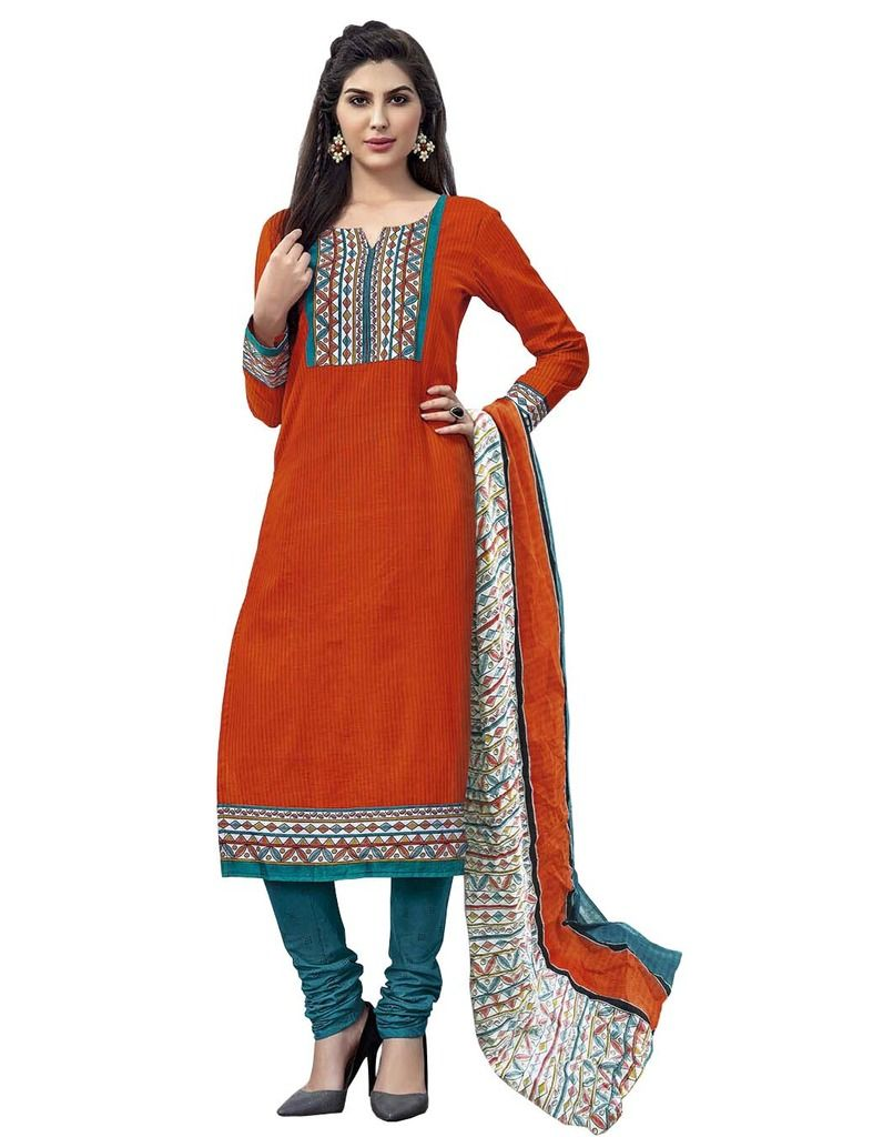 Buy Padmini Unstitched Printed Cotton Dress Material (product Code - Dtmcm5027) online