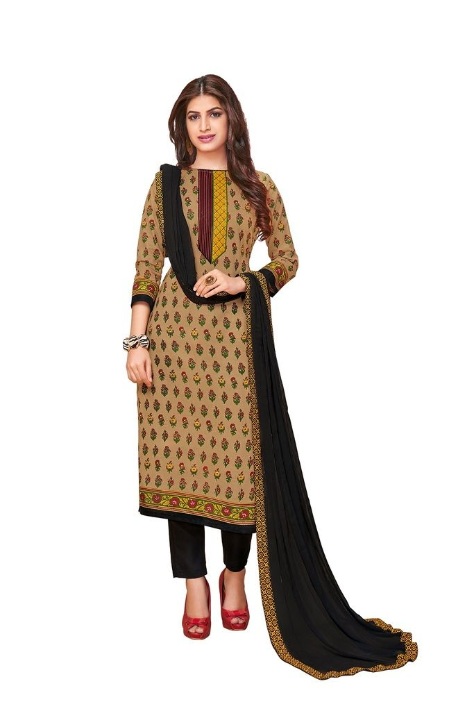 Buy Padmini Unstitched Printed Cotton Dress Material (product Code - Dtkakashish2504) online