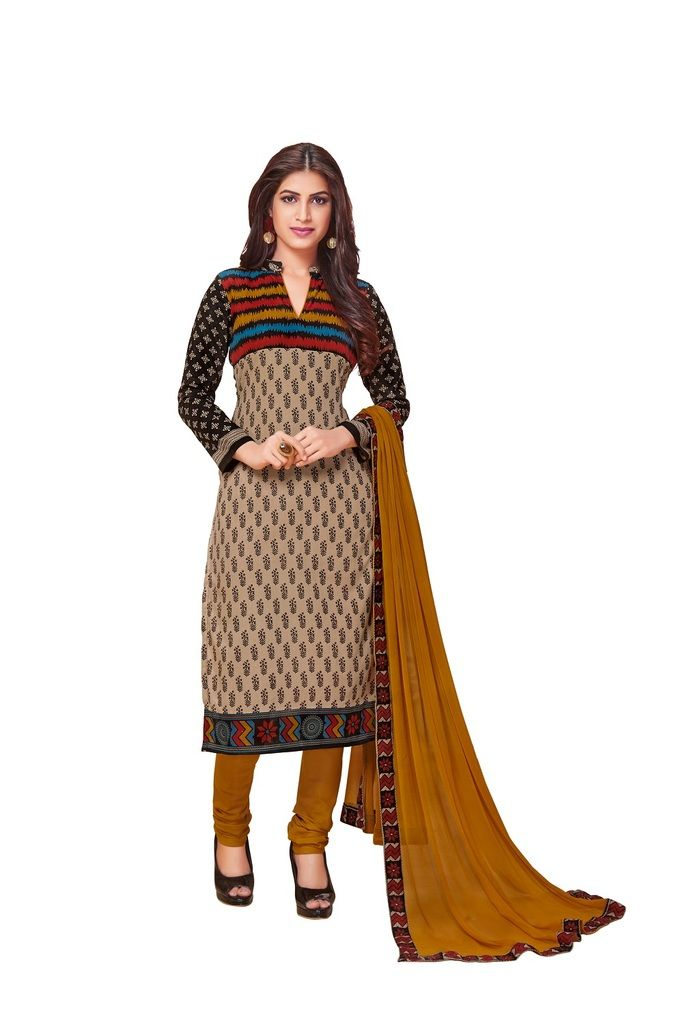 Buy Padmini Unstitched Printed Cotton Dress Material (product Code - Dtkakashish2506) online