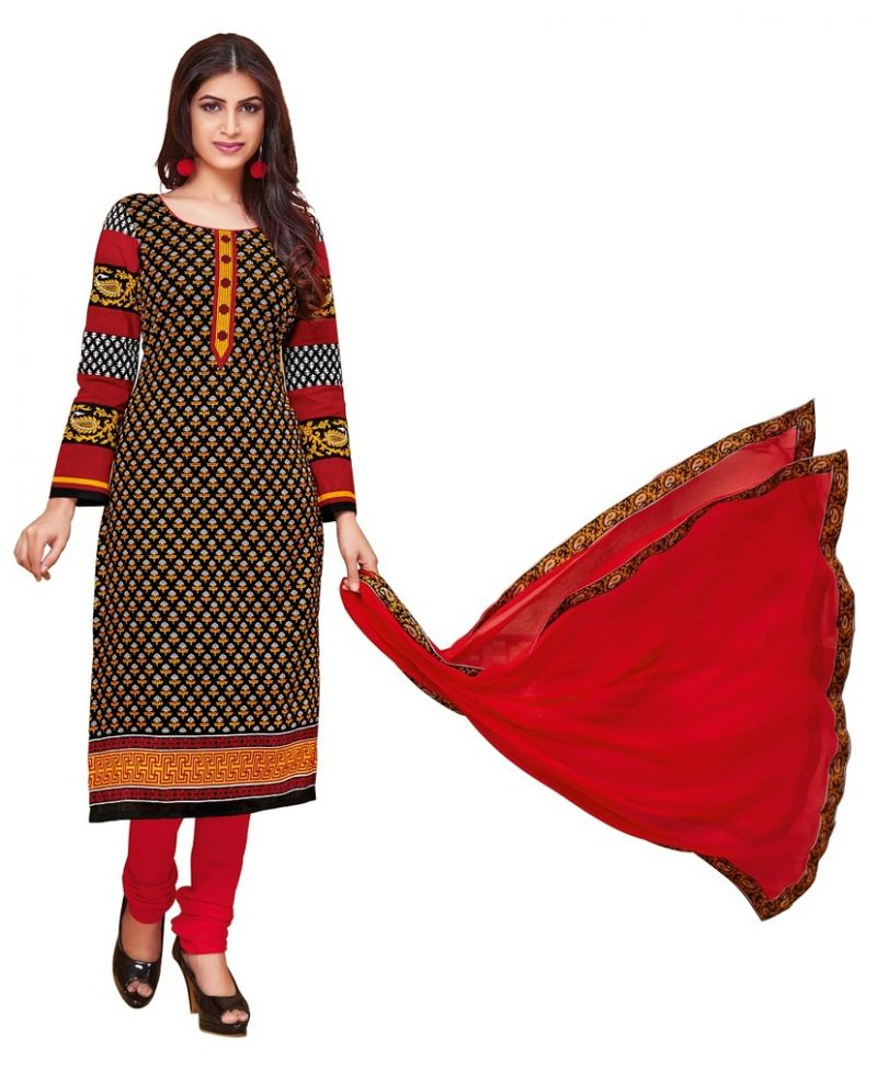 Buy Padmini Unstitched Printed Cotton Dress Material (product Code - Dtkakashish2509) online