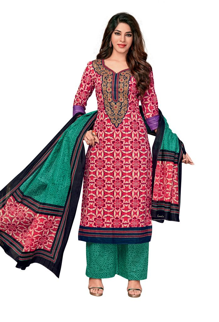 Buy Padmini Unstitched Printed Cotton Dress Material (code - Dtkapreyanshi5171) online