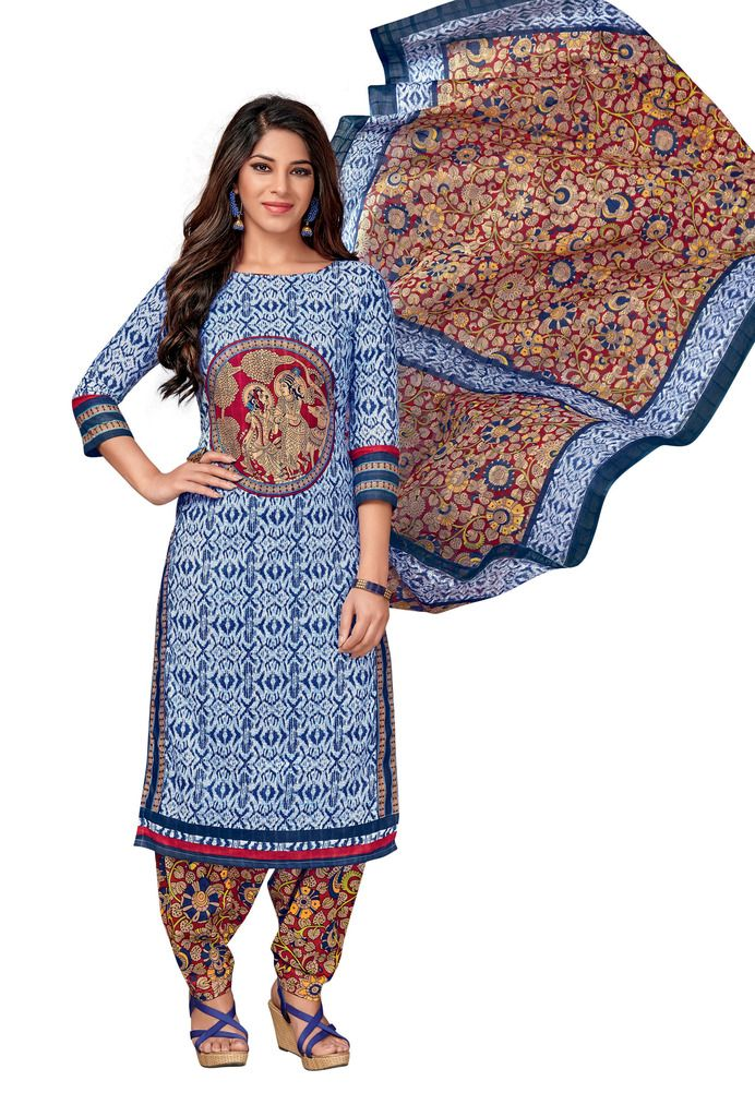 Buy Padmini Unstitched Printed Cotton Dress Material (code - Dtkapreyanshi5176) online