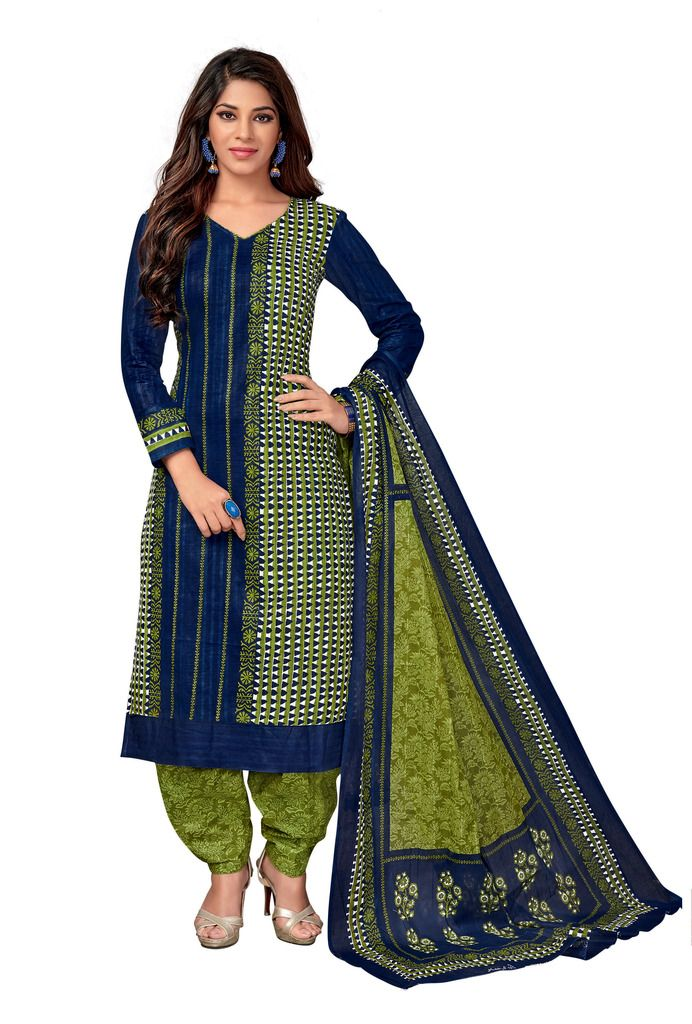Buy Padmini Unstitched Printed Cotton Dress Material (code - Dtkapreyanshi5179) online