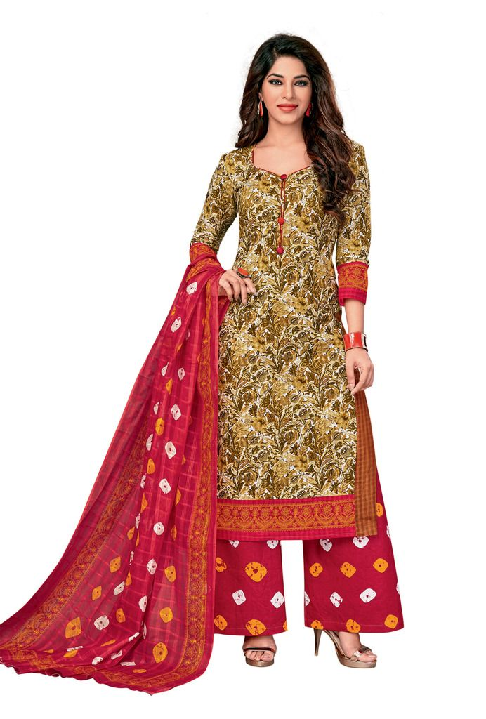 65db94d88f Buy Padmini Unstitched Printed Cotton Dress Material (code -  Dtkapreyanshi5180) online