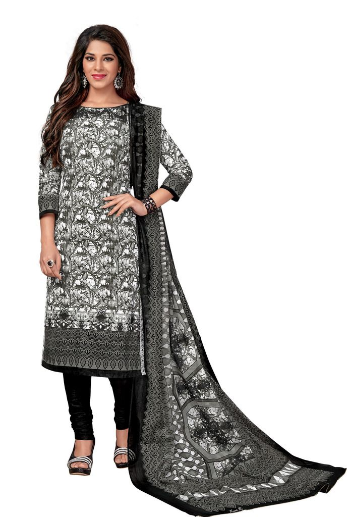 Buy Padmini Unstitched Printed Cotton Dress Material (code - Dtkasmit5506) online