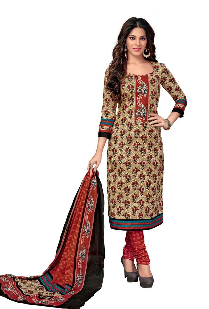 Buy Padmini Unstitched Printed Cotton Dress Material (code - Dtkasmit5507) online