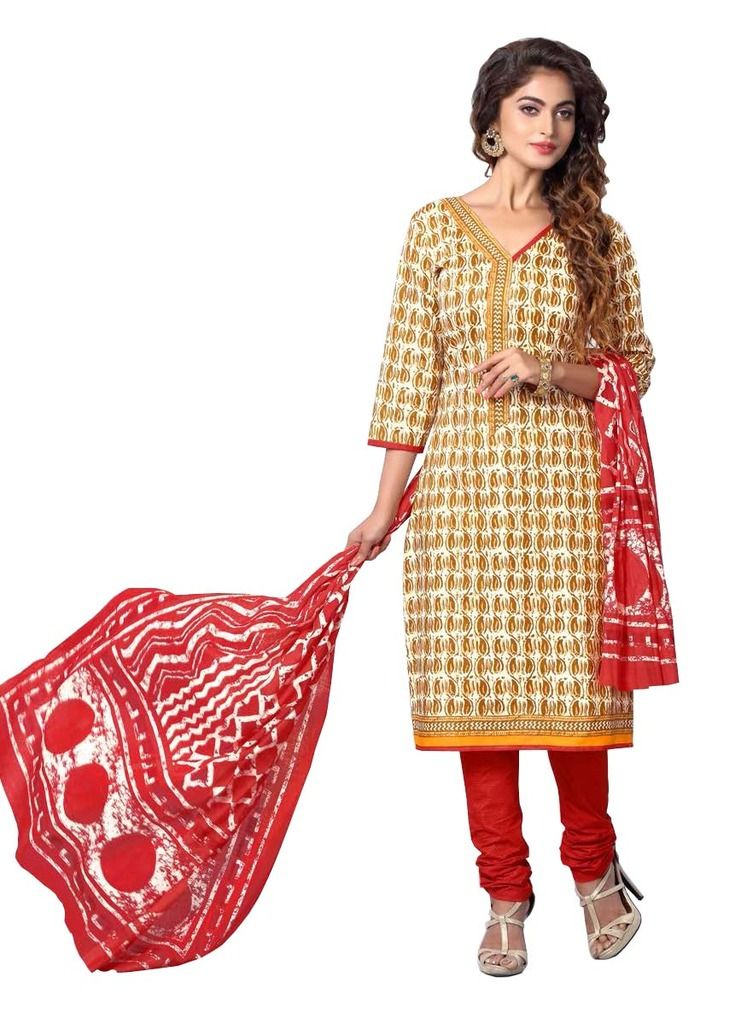 Buy Padmini Unstitched Printed Cotton Dress Materials Fabrics (product Code - Dthfdeepkala101) online