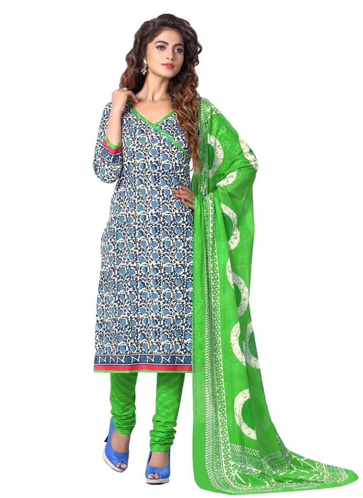Buy Padmini Unstitched Printed Cotton Dress Materials Fabrics (product Code - Dthfdeepkala103) online