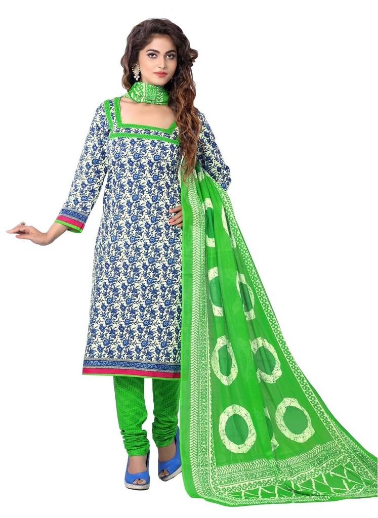 Buy Padmini Unstitched Printed Cotton Dress Materials Fabrics (product Code - Dthfdeepkala107) online