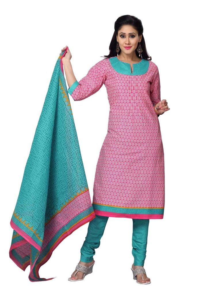 Buy Padmini Unstitched Printed Cotton Dress Material (product Code - Dtskmadhubala204) online