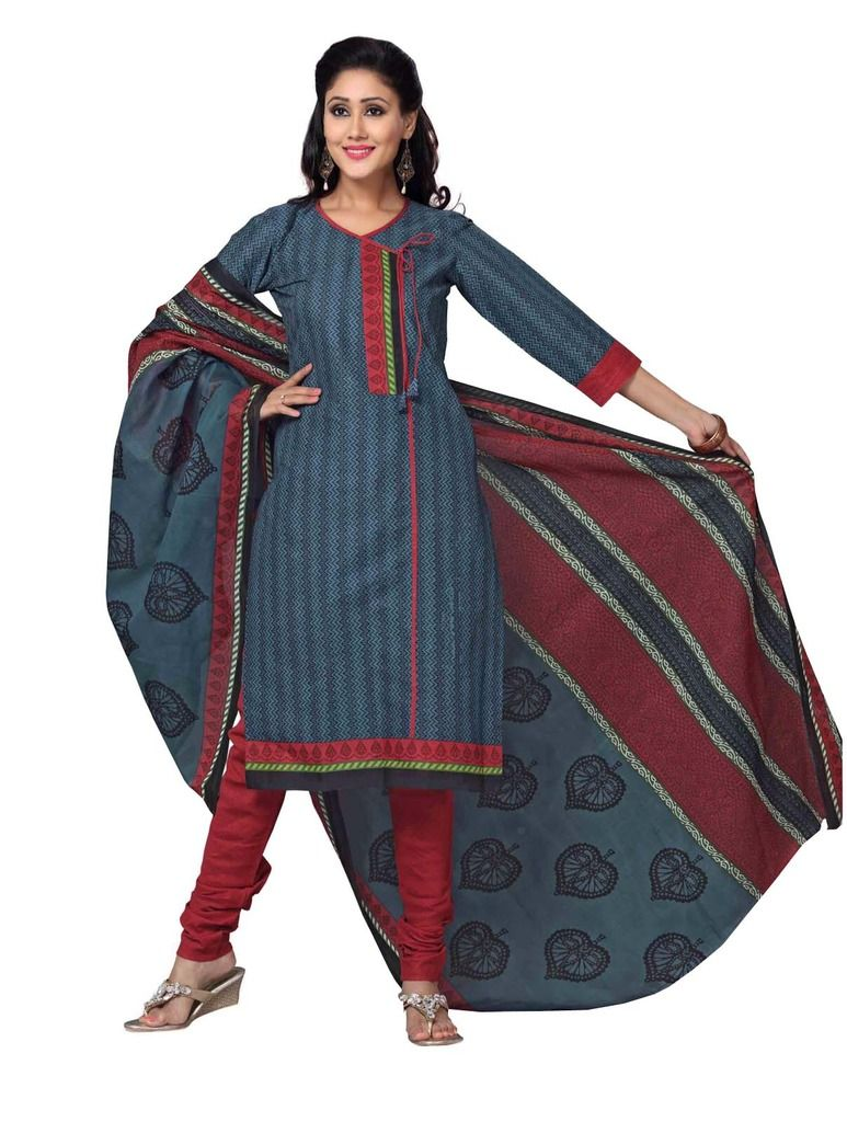 Buy Padmini Unstitched Printed Cotton Dress Material (product Code - Dtskmadhubala208) online