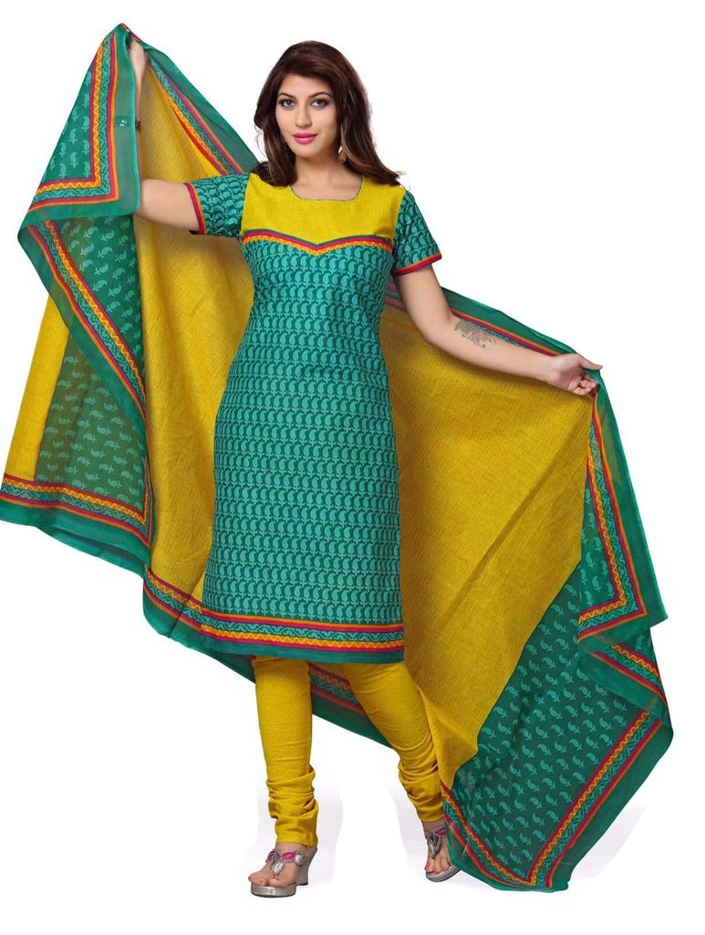 Buy Padmini Unstitched Printed Cotton Dress Material (product Code - Dtskcherry503) online