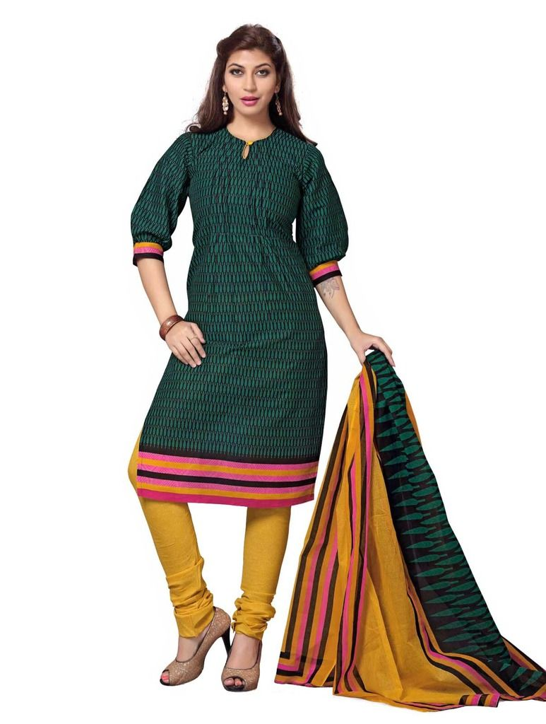 Buy Padmini Unstitched Printed Cotton Dress Material (product Code - Dtskcherry505) online