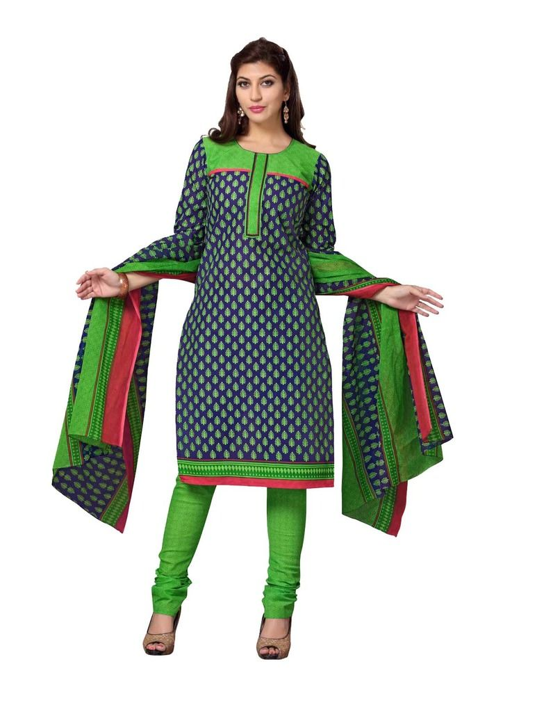 Buy Padmini Unstitched Printed Cotton Dress Material (product Code - Dtskcherry510) online