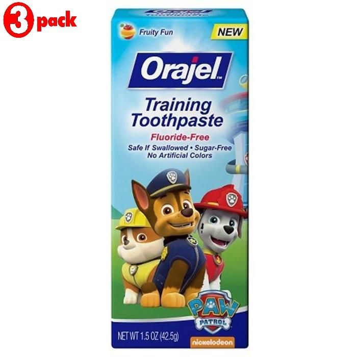 Buy Orajel Training Toothpaste 42.5g - Paw Patrol (pack Of 3) online