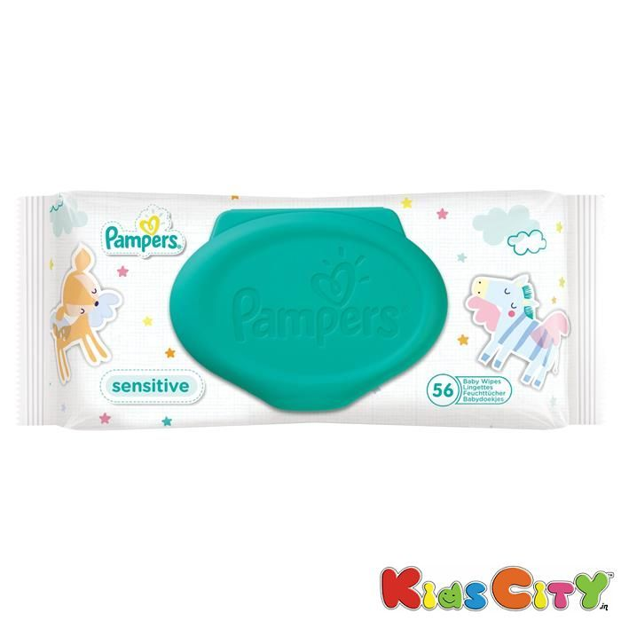Buy Pampers Baby Wipes 56pc - Sensitive online