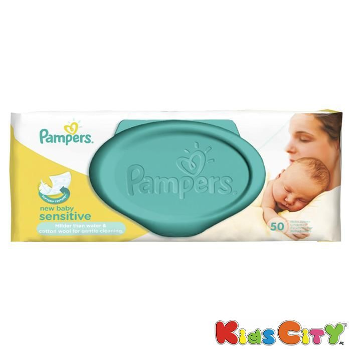 Buy Pampers Baby Wipes 56pc - New Baby Sensitive online
