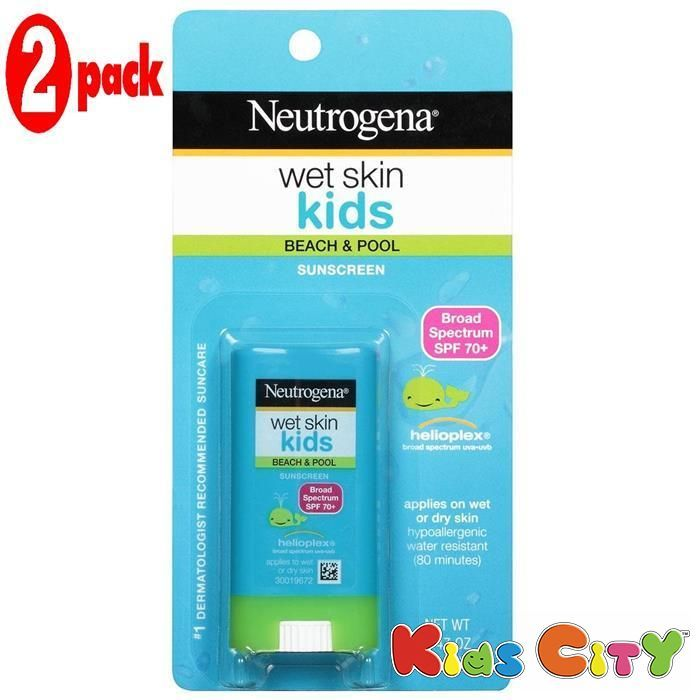 Buy Neutrogena Kids Wet Skin Sunscreen Spf70 - 13g (pack Of 2) online