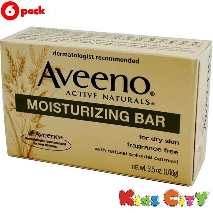 Buy Aveeno Active Naturals Moisturizing Bar - 100g (35oz) (pack Of 6) online