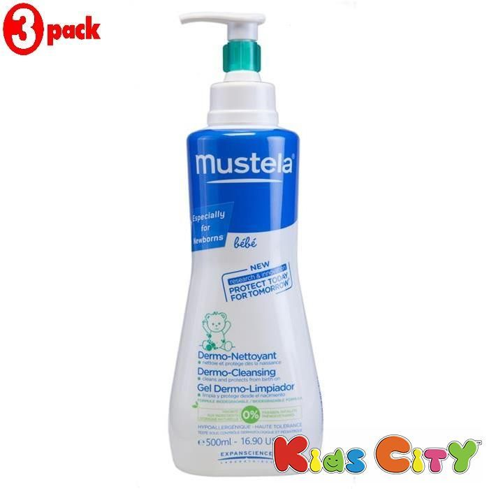 Buy Mustela Dermo-cleansing Gel For Hair Body - 500ml (16.90oz) (pack Of 3) online
