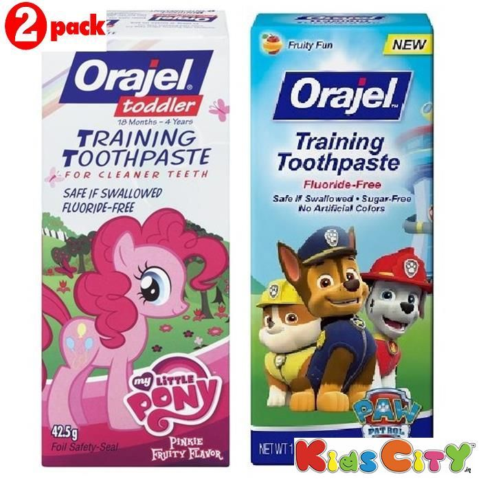 Buy Orajel Training Toothpaste Combo (pack Of 2) - My Little Pony + Paw Patrol online