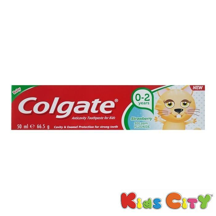 Buy Colgate Toothpaste For Kids 50ml (0-2y) - Strawberry online