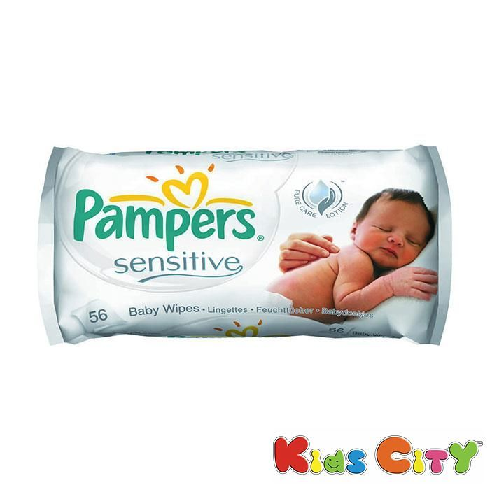 Buy Pampers Sensitive Baby Wipes - 56pc online