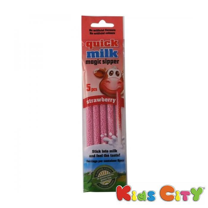 Buy Quick Milk Magic Sipper (3y+) 5pc - Strawberry online