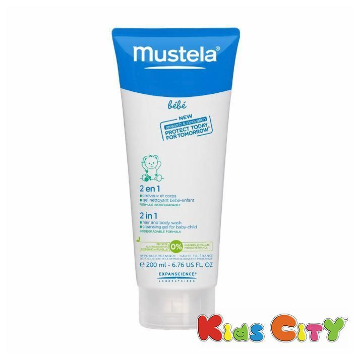 Buy Mustela 2 In 1 Hair & Body Wash - 200ml (6.76oz) online