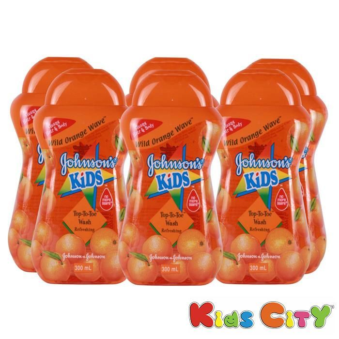 Buy Johnsons Kids Top To Toe Wash 300ml - Wild Orange Wave (pack Of 6) online