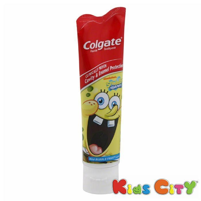 Buy Colgate Toothpaste 130g - Mild Bubble Fruit - Sponge Bob online
