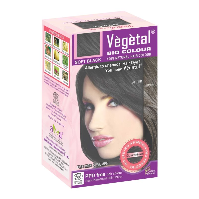 Buy Vegetal Bio Colour-soft Black-50gm online