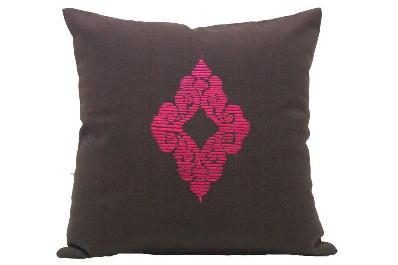 Buy Blueberry Home Cotton fabric Brown color Cushion cover online