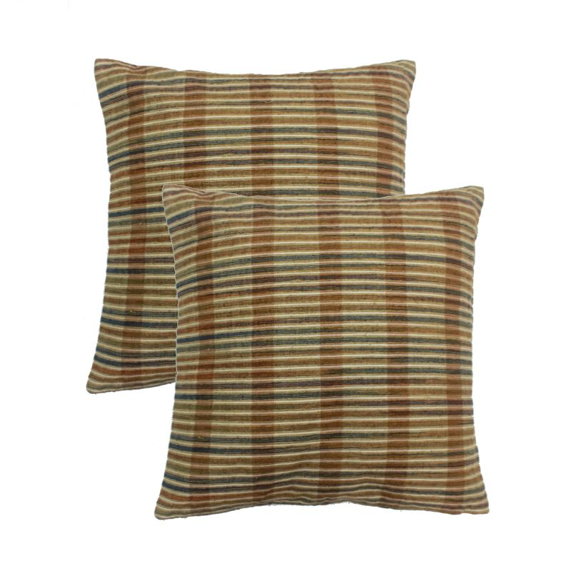 Buy Blueberry Home Multicolor Color Silk Fabric Cushion Covers Set Of 02 (40x40 Cms) online