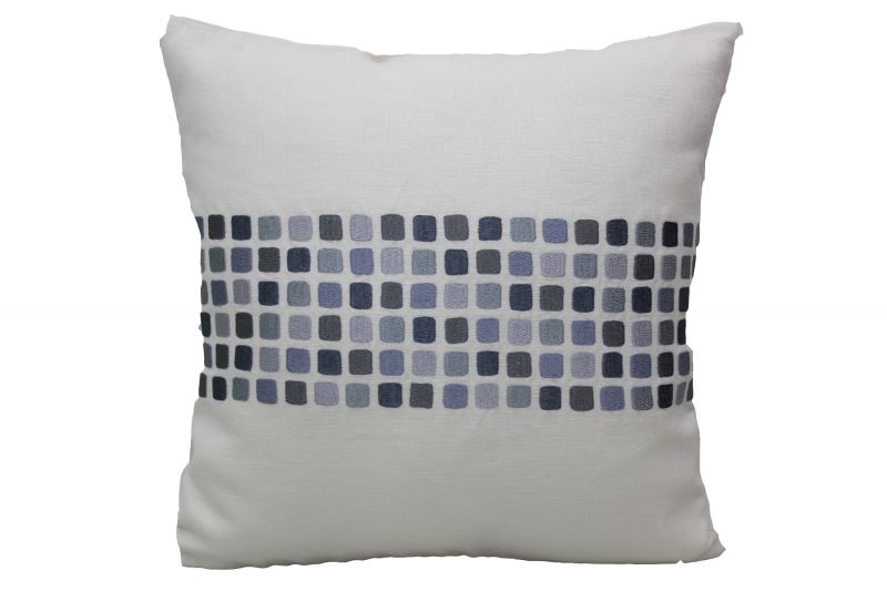 Buy Blueberry Home Linen Fabric Grey Color Cushion Cover (40x40 Cms) online
