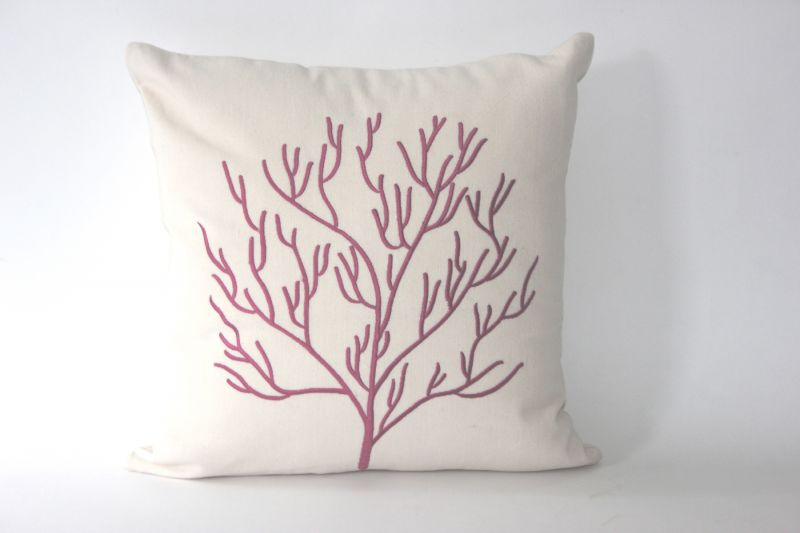 Buy Blueberry Home Cotton fabric Pink color Cushion cover online