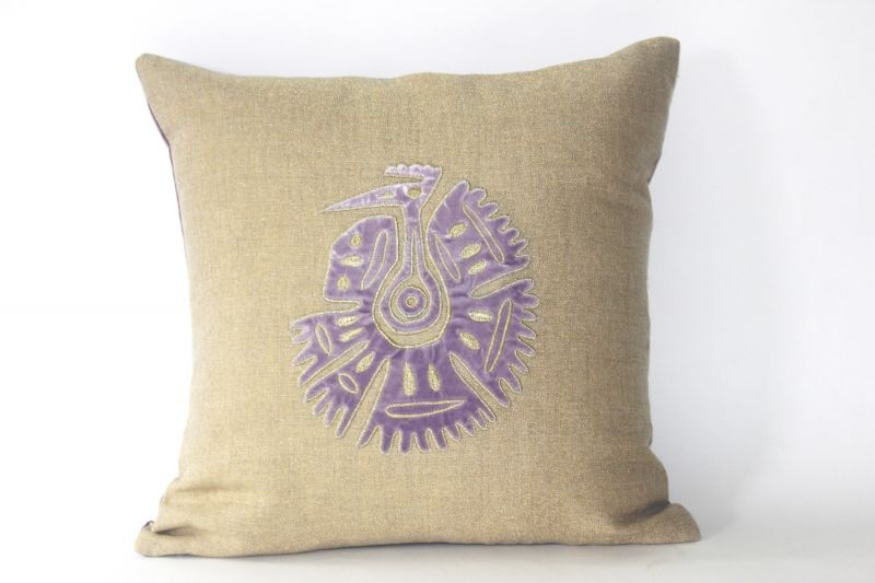 Buy Blueberry Home Linen fabric lavender color Cushion cover online